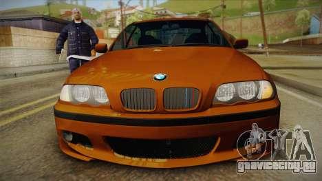 BMW 320i E46 для GTA San Andreas вид справа