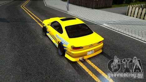 Nissan Silvia S15 Huxley Motorsport для GTA San Andreas вид сзади