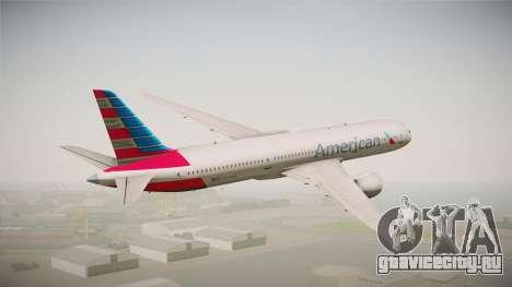 Boeing 787 American Airlines для GTA San Andreas вид слева