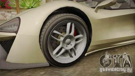 GTA 5 Progen Itali GTB для GTA San Andreas вид сзади