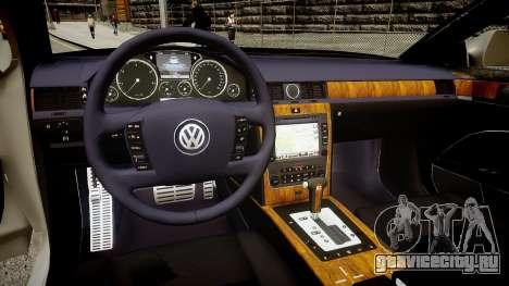 Volkswagen Phaeton 2011 для GTA 4 вид изнутри