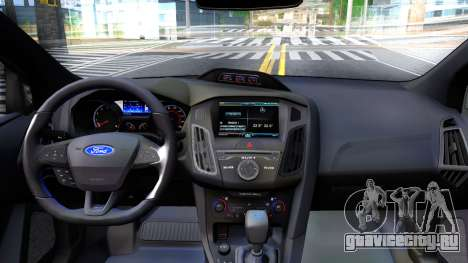 Ford Focus 2017 для GTA San Andreas вид изнутри