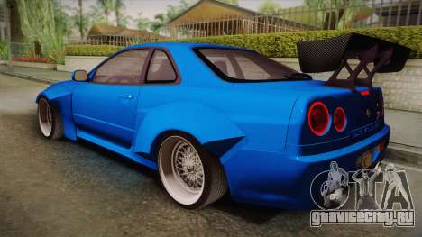 Nissan Skyline R34 14th Street для GTA San Andreas вид слева