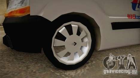 Renault Kangoo MASKargo Animal Hotel для GTA San Andreas вид сзади