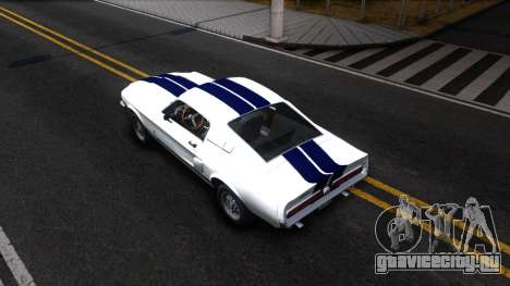 Ford Mustang Shelby GT500 для GTA San Andreas вид сзади