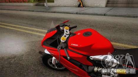 Ducati 1299 Panigale S 2016 для GTA San Andreas вид сзади слева