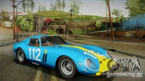 Ferrari 250 GTO (Series I) 1962 IVF PJ2 для GTA San Andreas вид сзади слева