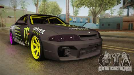 Nissan Skyline R33 Drift Monster Energy Falken для GTA San Andreas