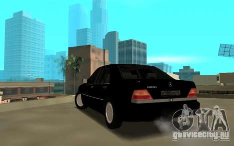 Mercedes-Benz 600SEL W140 для GTA San Andreas вид сзади слева