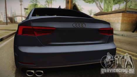 Audi S5 2017 для GTA San Andreas вид сзади
