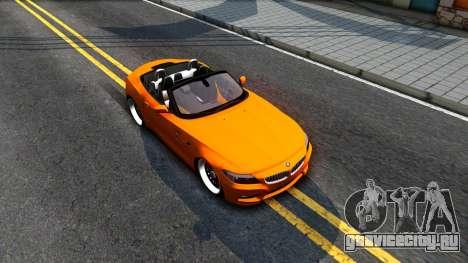 BMW Z4 sDrive35is для GTA San Andreas вид справа