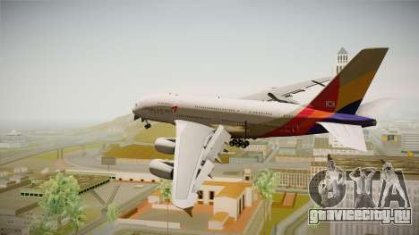 Airbus A380 Asiana Airline для GTA San Andreas вид слева