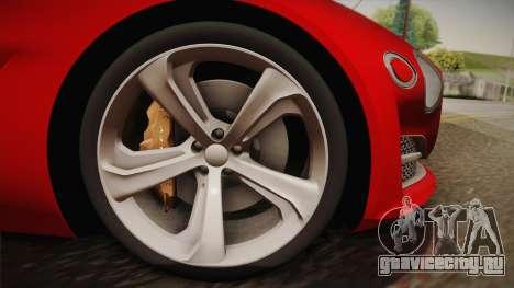 Bentley EXP 10 Speed 6 для GTA San Andreas вид сзади слева