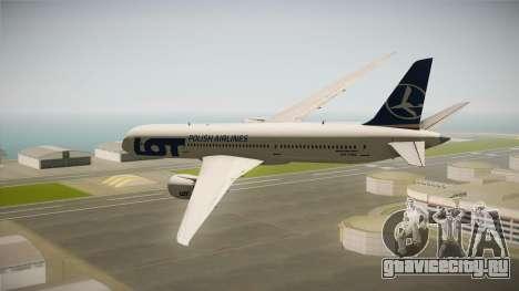 Boeing 787 LOT Polish Airlines для GTA San Andreas вид справа