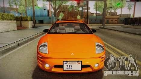 Mitsubishi Eclipse GTS Mk.III 2003 IVF для GTA San Andreas вид сзади