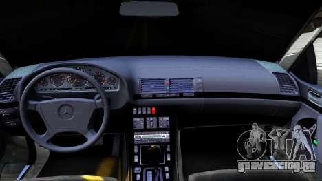 Mercedes-Benz S600 для GTA San Andreas вид изнутри