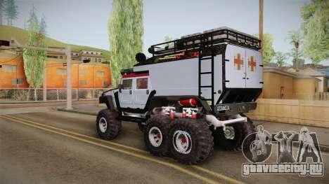 Hummer H1 Monster для GTA San Andreas вид слева