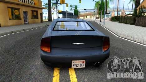 GTA 3 Kuruma SA style V2 для GTA San Andreas вид сзади слева