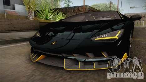 Lamborghini Centenario LP770-4 2017 Carbon PJ для GTA San Andreas вид сверху