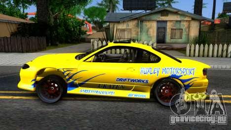 Nissan Silvia S15 Huxley Motorsport для GTA San Andreas вид слева