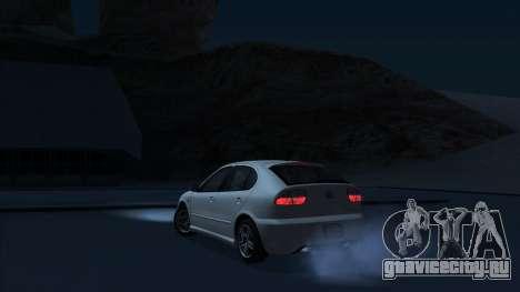 2003 Seat Leon Cupra R Series I для GTA San Andreas вид сзади слева