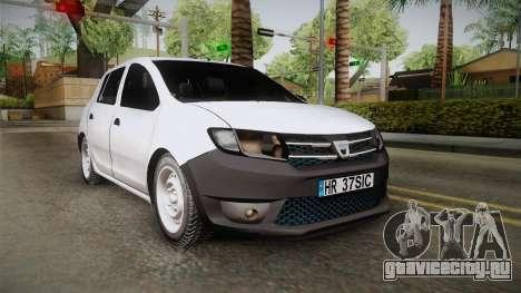 Dacia Sandero Székely для GTA San Andreas вид сзади слева