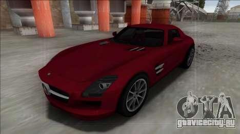 2010 Mercedes-Benz SLS AMG FBI для GTA San Andreas вид сзади слева