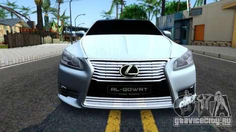 Lexus LS XF40 для GTA San Andreas вид изнутри