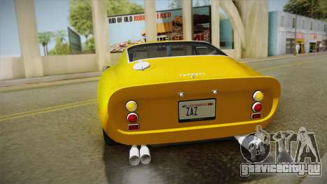 Ferrari 250 GTO (Series I) 1962 IVF PJ2 для GTA San Andreas вид сбоку