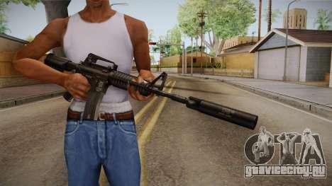 M4A1 Silenced для GTA San Andreas третий скриншот