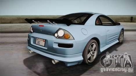 Mitsubishi Eclipse GTS Mk.III 2003 IVF для GTA San Andreas салон