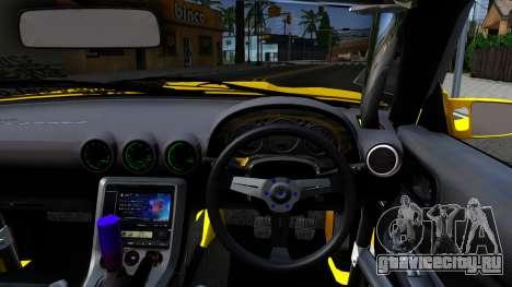 Nissan Silvia S15 Huxley Motorsport для GTA San Andreas вид изнутри