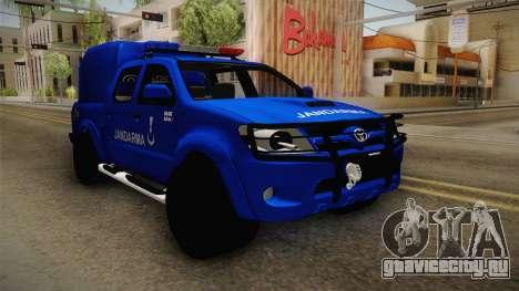 Toyota Hilux Turkish Gendarmerie Vehicle для GTA San Andreas вид справа