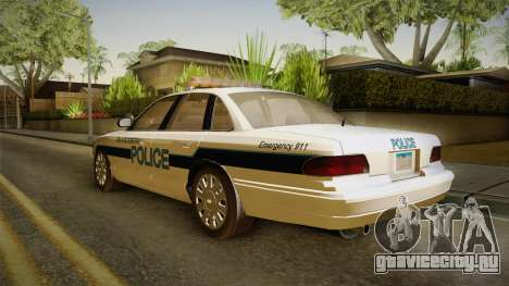 Brute Stainer Blueberry Police 1994 для GTA San Andreas вид сзади слева