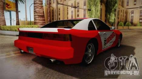 ETR1 EuR0S Red для GTA San Andreas вид сзади слева