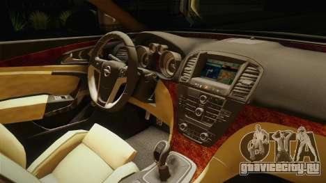 Opel Insignia Guardia Civil Tráfico для GTA San Andreas вид изнутри