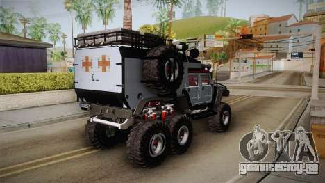 Hummer H1 Monster для GTA San Andreas вид сзади слева