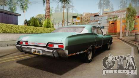 Chevrolet Impala 1967 для GTA San Andreas вид сзади слева