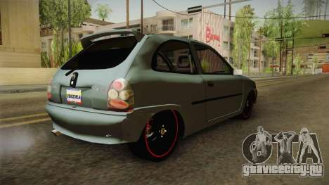 Chevrolet Corsa Speed 2006 v2 для GTA San Andreas вид слева