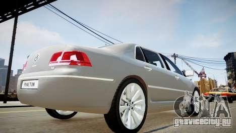 Volkswagen Phaeton 2011 для GTA 4 вид сзади