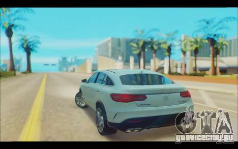 Mercedes-Benz GL63 для GTA San Andreas вид сзади слева