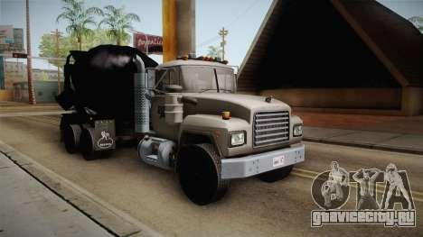 Mack RD690 Cement Mixer Truck 1992 для GTA San Andreas вид справа