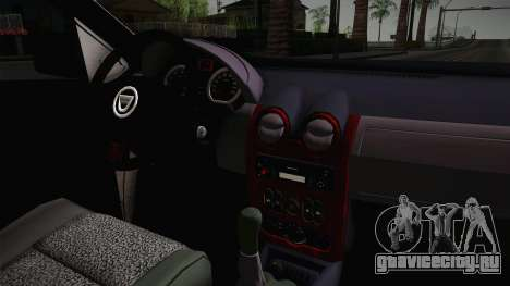 Dacia Sandero Székely для GTA San Andreas вид изнутри