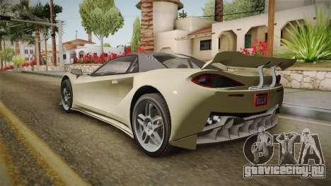 GTA 5 Progen Itali GTB для GTA San Andreas вид сзади слева