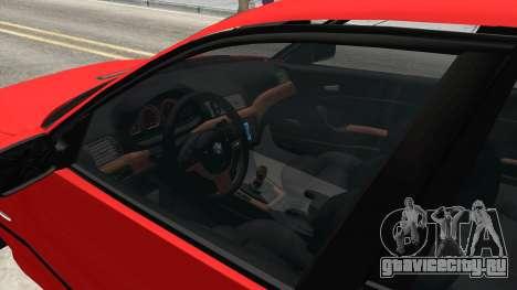 BMW 3 Series E46 Sedan для GTA San Andreas вид изнутри