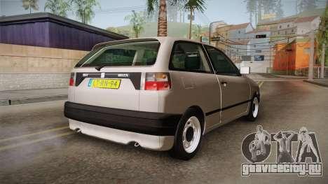 Seat Ibiza 1995 SWAP 1.6 для GTA San Andreas вид сзади слева