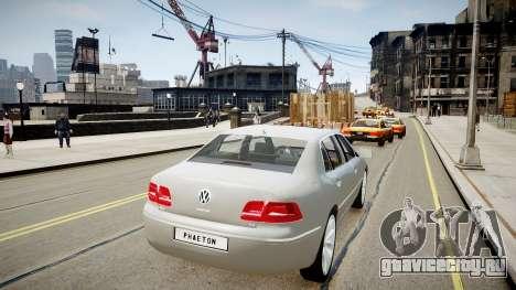 Volkswagen Phaeton 2011 для GTA 4 вид сзади слева