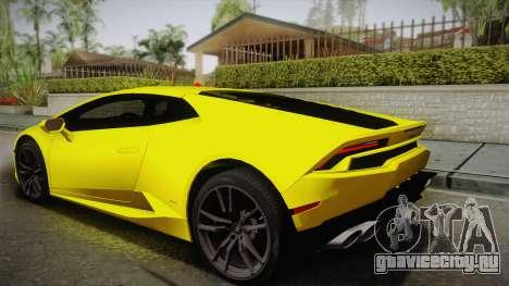 Lamborghini Huracan FBI 2014 для GTA San Andreas вид слева