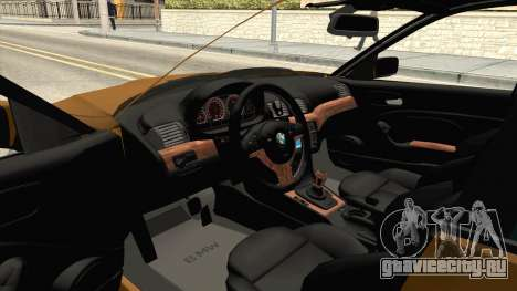 BMW 320i E46 для GTA San Andreas вид изнутри