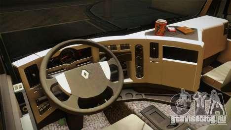 Renault Premiun 450 6x2 Lift для GTA San Andreas вид изнутри